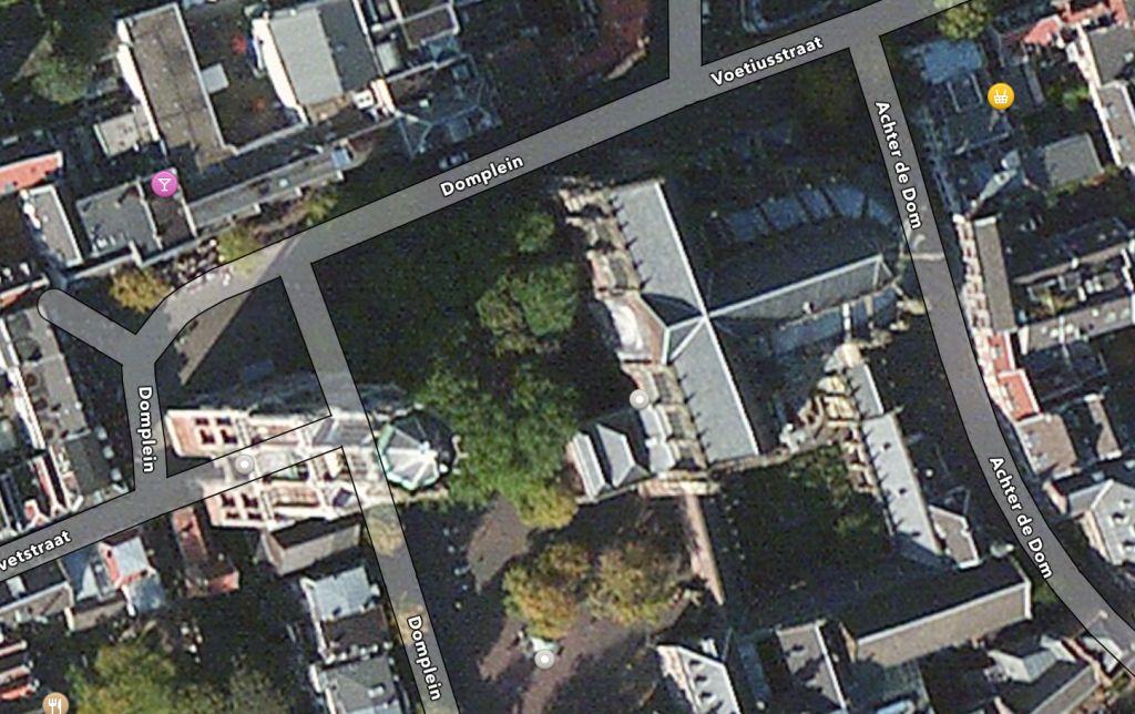 Utrecht Domplein (Source: Apple Maps)