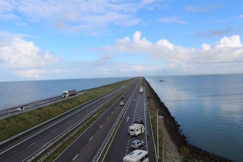 Motorway on Afsluitdijk