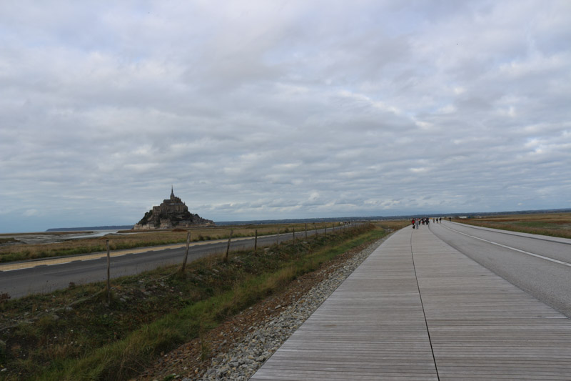 View from the bridge when walking to Mont Saint-Michel