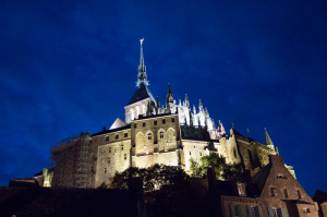 Mont-Saint-Michel at night