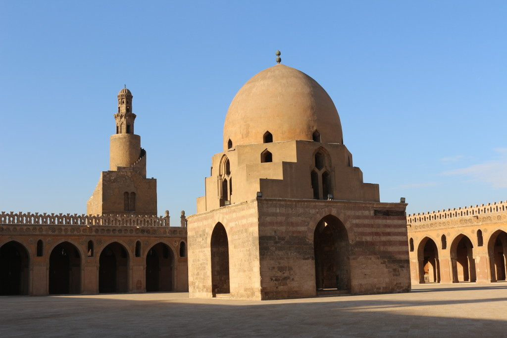 Enjoying the tranquility and elegance of Ibn-Tulun Mosque in the heart of crazy and loud Cairo