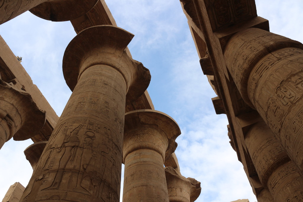 Realizing again how amazing it is that the titanic halls of Karnak are already 4'000 years old. Most of the rest of the world was still living in caves by then.