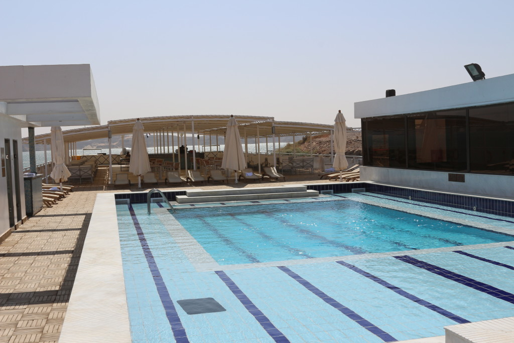Pool deck of MS Omar El Khayam