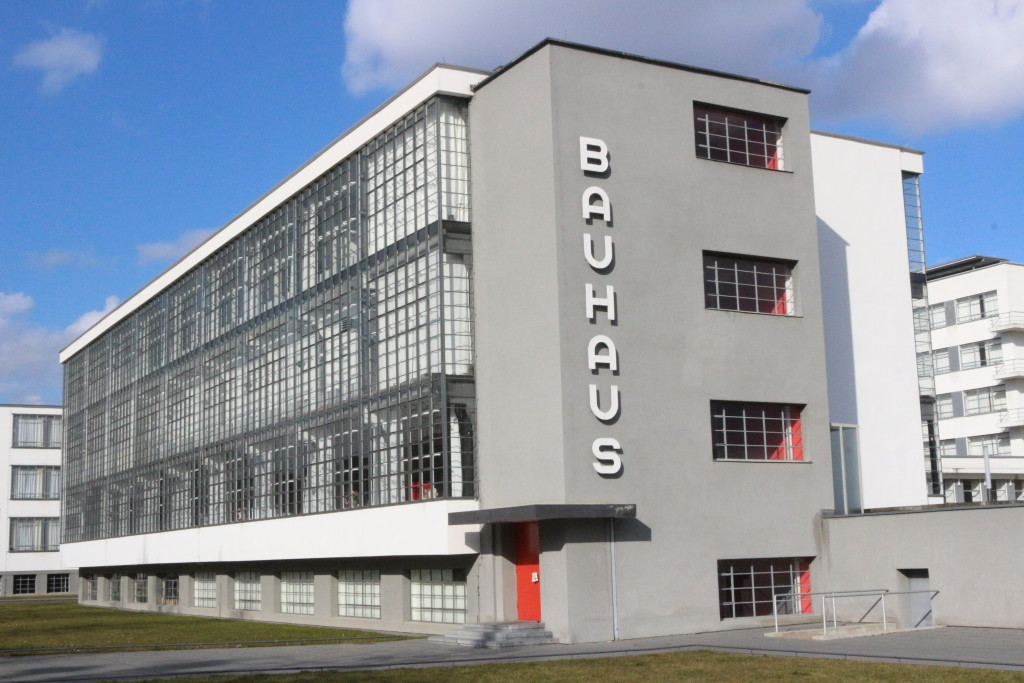 Being happy to finally visit the Bauhaus in Dessau. Realizing then however quite quickly that there is not so much to see and that the city is not really pretty.