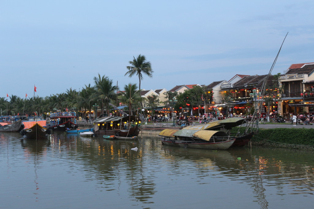 Enjoying beautiful Hoi An