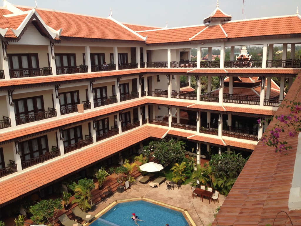 The hotel in Siem Reap could be almost considered a small resort