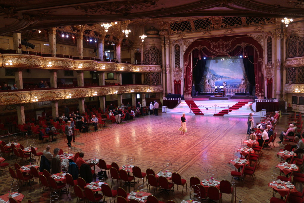 The Blackpool Tower Ballroom was just a surreal experience of glitter and gold